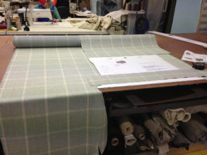 How sofas are made - fabric image