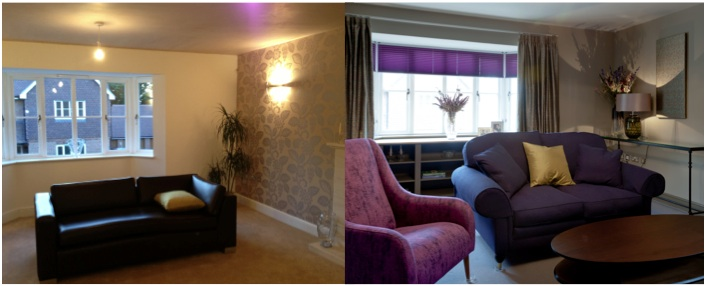 Speldhurst lounge Before and After 2
